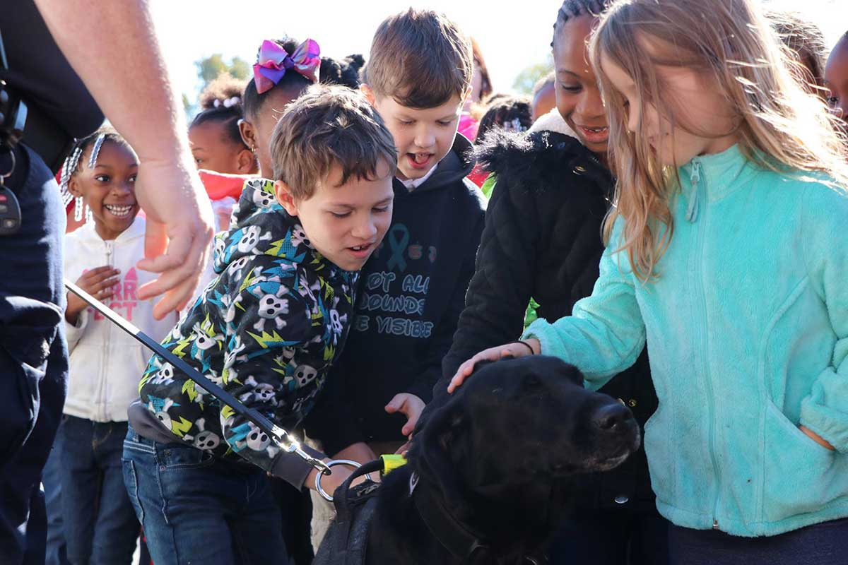 K-9 visiting a local school