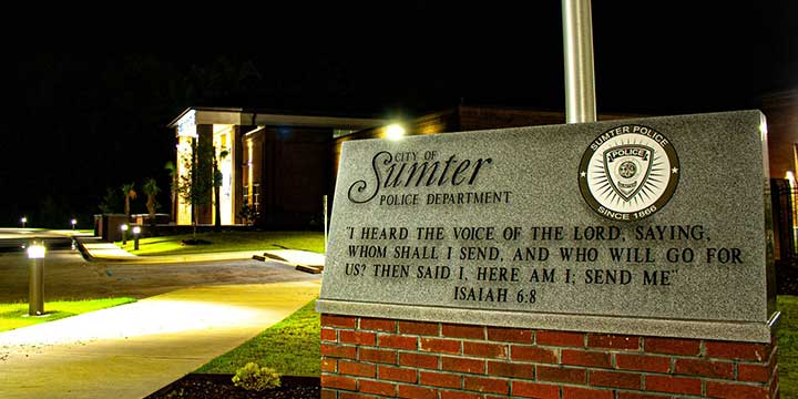 City of Sumter Police Department sign