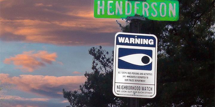 Neighborhood Watch Road Sign